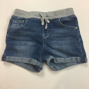 4/$25 sale Justice 14S knit waist jean shorts
